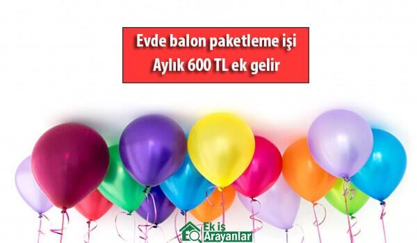 Evde Balon Paketleme İşi