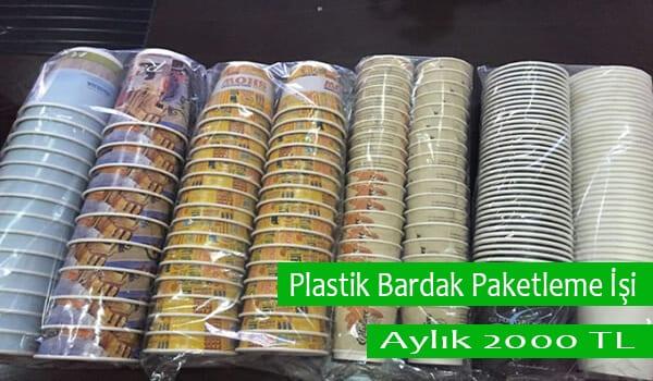Evde Plastik Bardak Paketleme İşi