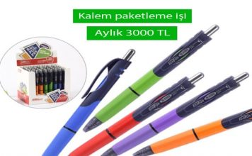 evde tukenmez kalem paketleme isi 2