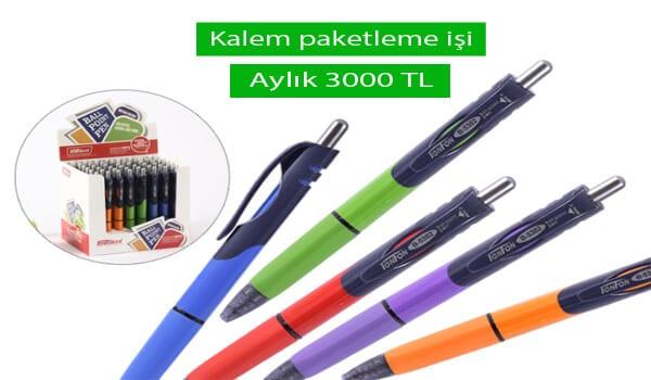 Evde Tükenmez Kalem Paketleme İşi
