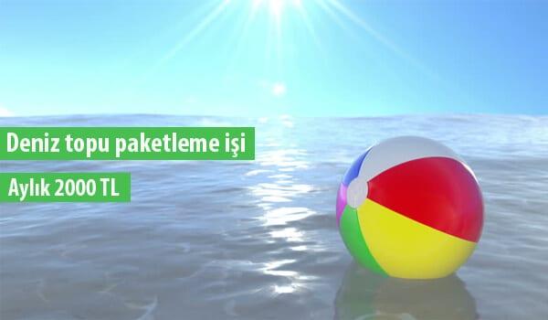 Evde deniz topu paketleme işi