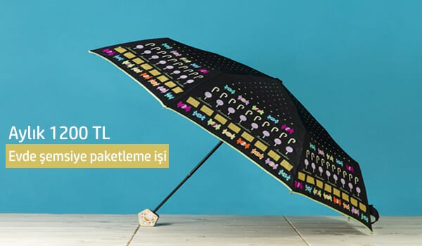 Evde şemsiye paketleme işi