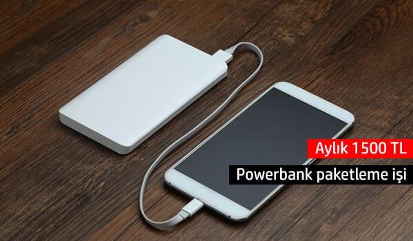 Evde powerbank paketleme işi
