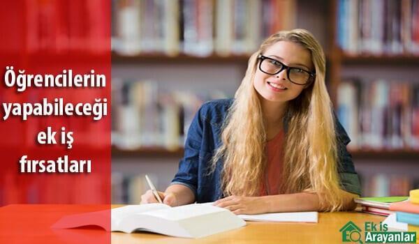 Öğrencilerin yapabileceği ek iş fırsatları