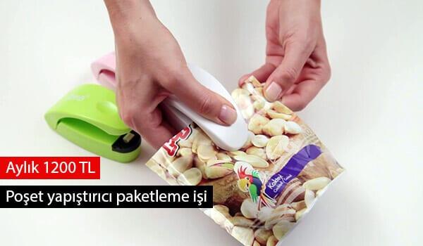 Poşet yapıştırıcı paketleme işi
