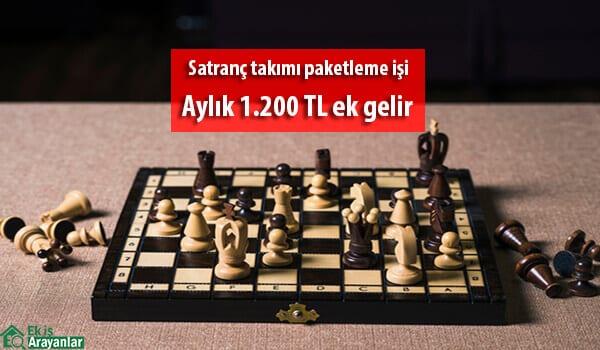 Evde satranç takımı paketleme işi