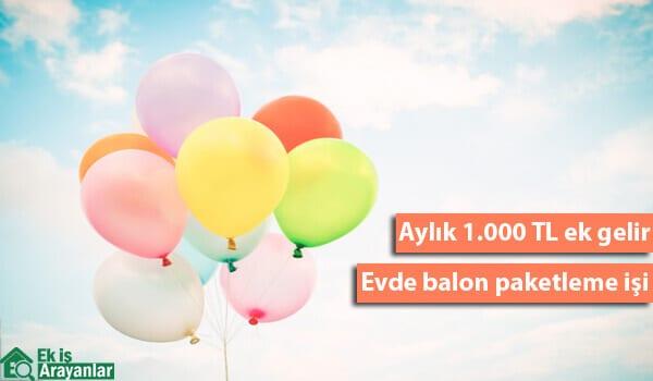 Evinizde balon paketleyerek kazanç sağlayın