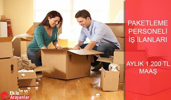 Paketleme personeli iş fırsatları